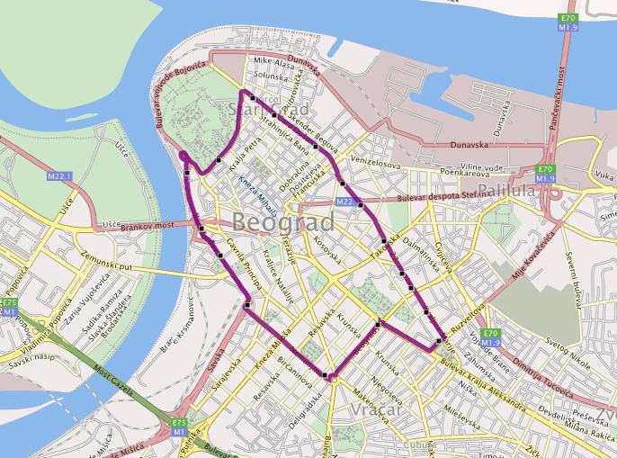 autobuska mapa beograda Balkan Simulacije | Mapa Beograda – Trainz autobuska mapa beograda